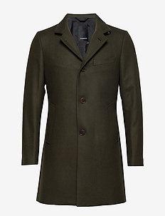 Holger-Compact Melton - wool coats - dark green