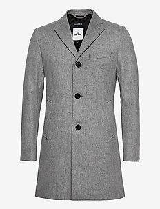Wolger Compact Melton Coat - wool coats - granite melange