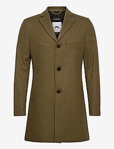 Wolger Compact Melton Coat - manteaux de laine - moss green