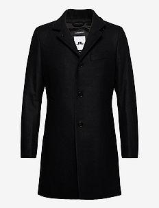Holger Compact Melton Coat - wool coats - black
