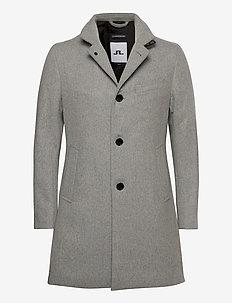 Holger Compact Melton Coat - manteaux de laine - granite melange