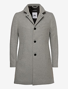 Holger Compact Melton Coat - wool coats - granite melange
