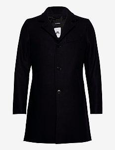 Holger Compact Melton Coat - manteaux de laine - jl navy