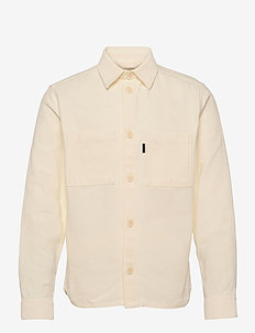 Structured Twill Overshirt - oberteile - cloud white