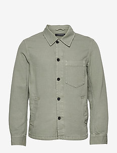 Fleet Overdyed Shirtjacket - jeansjacken - sage
