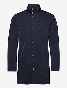 Terry Poly Stretch coat - leichte mäntel - jl navy
