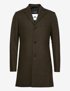 Wolger Compact Melton coat - manteaux de laine - seaweed green