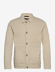 Eric Cotton Linen Jacket - oberteile - sand grey