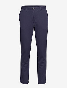 Chaze-Flannel twill - pantalons habillés - jl navy