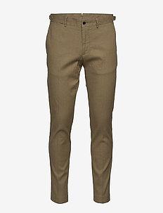 Grant-Cotton linen stretch - pantalons décontractés - covert green
