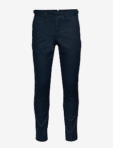 Grant-Cotton linen stretch - casual broeken - jl navy