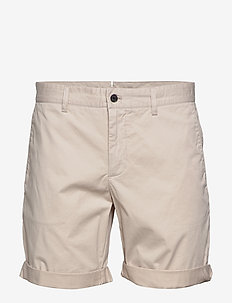 Nathan-Super Satin - chinos shorts - cloud grey