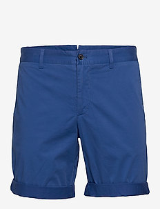 Nathan-Super Satin - chinos shorts - monaco sea