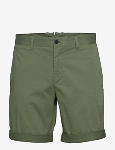 Nathan-Super Satin - chinos shorts - sage green
