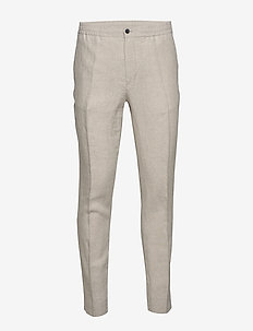 Sasha-Drape Linen - suitbukser - cloud grey