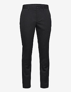 Chaze Flannel Twill Pants - pantalons habillés - dark grey