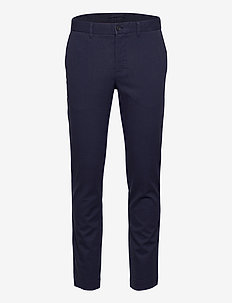 Chaze Flannel Twill Pants - pantalons habillés - jl navy