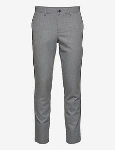 Chaze Flannel Twill Pants - suit trousers - lt grey melange