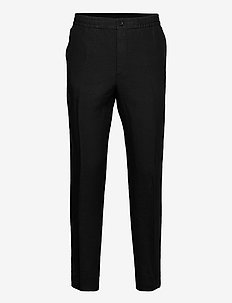 Sasha Drape Linen Pants - anzugshosen - black
