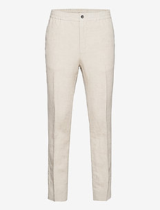 Sasha Drape Linen Pants - suitbukser - sand melange