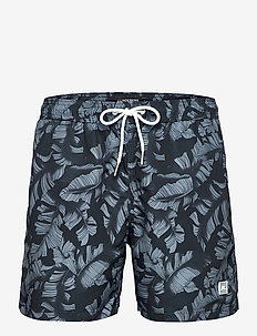 Banks Pattern Swim Trunks - badehosen - jl navy