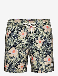 Banks Pattern Swim Trunks - badehosen - sage