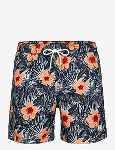 Banks Pattern Swim Trunks - badehosen - steel blue