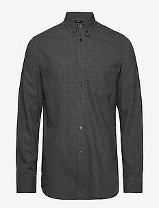 Daniel-Light Flannel - basic skjorter - dark grey