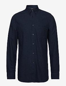 Daniel-Light Flannel - basic skjorter - jl navy