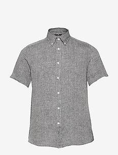 Daniel SS-Linen Melange - chemises basiques - jl navy