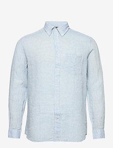 Daniel BD-Linen Melange - basic-hemden - dusk blue