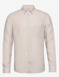 Fredrik BD-Clean Linen - basic skjorter - cloud grey