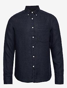 Fredrik BD-Clean Linen - basic skjorter - jl navy