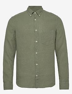 Fredrik BD-Clean Linen - podstawowe koszulki - sage green