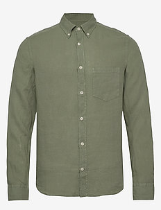 Fredrik BD-Clean Linen - basic skjorter - sage green