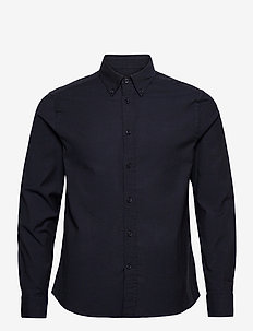 Stretch Oxford Slim Shirt - basic skjortor - jl navy