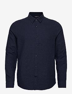 Light Flannel Slim Shirt - podstawowe koszulki - jl navy