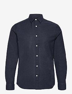 Stretch Oxford Slim Shirt - basic-hemden - jl navy