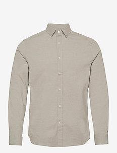 Stretch Oxford Slim Shirt - basic-hemden - lake green