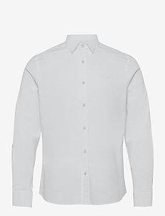 Stretch Oxford Slim Shirt - basic-hemden - white