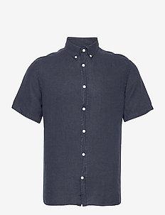 Clean Linen SS Slim Shirt - basic-hemden - jl navy