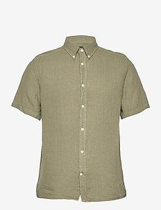 Clean Linen SS Slim Shirt - basic-hemden - lake green