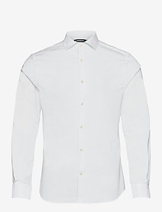 Non-iron Twill Superslim Shirt - basic-hemden - white