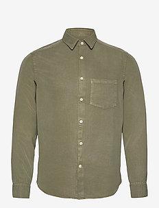 Comfort Tencel Slim Shirt - karierte hemden - lake green
