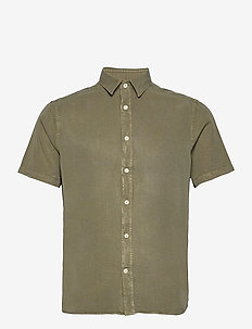 Comfort Tencel SS Reg Shirt - karierte hemden - lake green