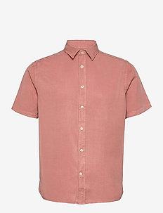 Comfort Tencel SS Reg Shirt - peruspaitoja - rose coppar