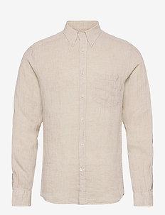 Linen Melange Slim Shirt - basic-hemden - summer dunes