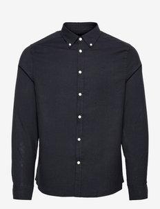 Stretch Oxford Slim Shirt - chemises décontractées - jl navy