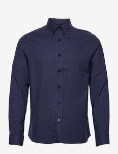 Light Flannel Slim Shirt - chemises décontractées - jl navy