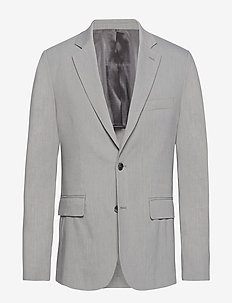 Hopper Soft-Stretch Linen - single breasted suits - soft ash